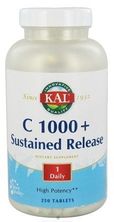 DROPPED: Kal - C 1000+ Sustained Release - 250 Tablets CLEARANCE PRICED