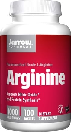 Jarrow Formulas - L-Arginine 1000 mg. - 100 Vegetarian Tablets