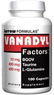 DROPPED: Jarrow Formulas - Vanadyl Factors - 100 Capsules