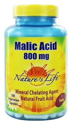 Nature's Life - Malic Acid Mineral Chelating Agent 800 mg. - 100 Capsules