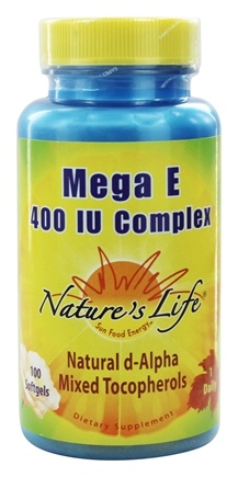 Nature's Life - Mega E Complex 400 IU - 100 Softgels