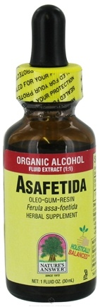DROPPED: Nature's Answer - Asafetida Oleo-Gum-Resin Organic Alcohol - 1 oz. CLEARANCE PRICED