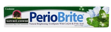 Nature's Answer - PerioBrite Toothpaste Cool Mint - 4 oz. Formerly Periowash