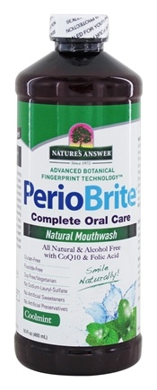Nature's Answer - PerioBrite Alcohol-Free Mouthwash Cool Mint - 16 oz. Formerly Periowash
