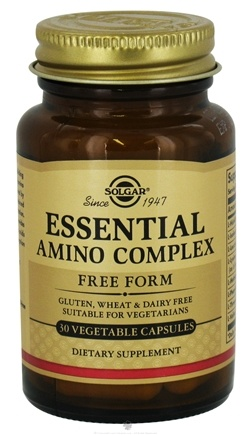DROPPED: Solgar - Essential Amino Complex Free Form - 30 Vegetarian Capsules CLEARANCE PRICED