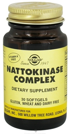 DROPPED: Solgar - Nattokinase Complex Softgels - 30 Softgels CLEARANCED PRICED