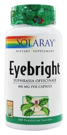 Solaray - Eyebright 400 mg. - 100 Vegetarian Capsules