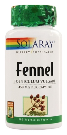 Solaray - Fennel Seeds 450 mg. - 100 Capsules