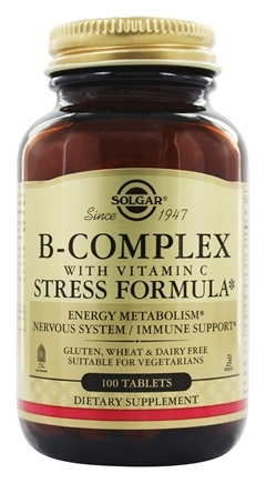 Solgar - B-Complex with Vitamin C Stress Formula - 100 Tablets