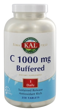 Kal - C Buffered Sustained Released 1000 mg. - 250 Tablets
