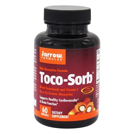 Jarrow Formulas - Toco-Sorb Mixed Tocotrienols and Vitamin E 60 mg. - 60 Softgels Formerly Toco-Life