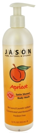 DROPPED: Jason Natural Products - Satin Shower Body Wash Apricot - 12 oz. CLEARANCE PRICED