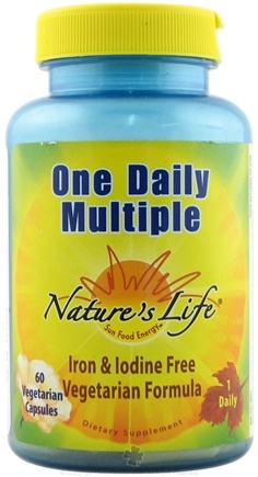 DROPPED: Nature's Life - One Daily Multiple - 60 Vegetarian Capsules CLEARANCE PRICED