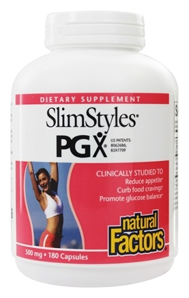 Natural Factors - SlimStyles PGX - 180 Capsules