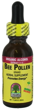DROPPED: Nature's Answer - Bee Pollen Grains Organic Alcohol - 1 oz. CLEARANCE PRICED