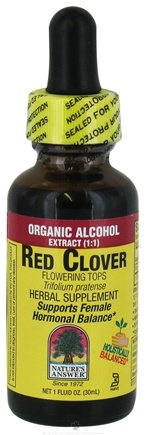 DROPPED: Nature's Answer - Red Clover Flowering Tops Organic Alcohol - 1 oz. CLEARANCE PRICED