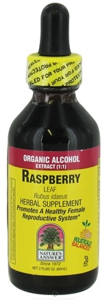 DROPPED: Nature's Answer - Raspberry Leaf Organic Alcohol - 2 oz. CLEARANCE PRICED