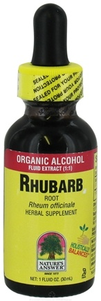 DROPPED: Nature's Answer - Rhubarb Root Organic Alcohol - 1 oz. CLEARANCE PRICED