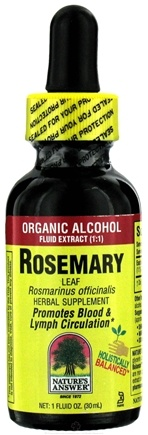DROPPED: Nature's Answer - Rosemary Leaf Organic Alcohol CLEARANCE PRICED - 1 oz.