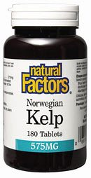 DROPPED: Natural Factors - Norweigian Kelp 575 mg. - 180 Tablets