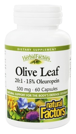 Natural Factors - Olive Leaf Extract 500 mg. - 60 Capsules