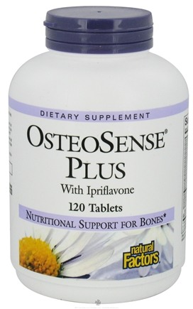 DROPPED: Natural Factors - OsteoSense Plus with Ipriflavone - 120 Tablets CLEARANCE PRICED
