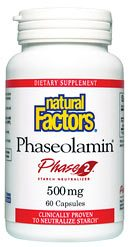 DROPPED: Natural Factors - Phaseolamin Phase 2 Carb Neutralizer 500 mg. - 60 Capsules