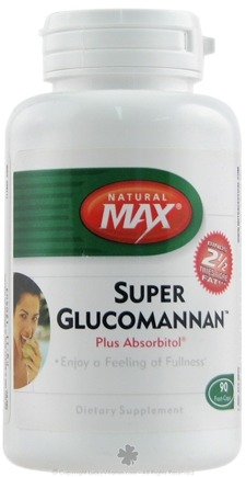 DROPPED: Natural Max - Super Glucomannan Plus Absorbitol - 90 Capsules CLEARANCE PRICED