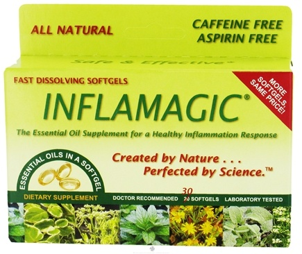 DROPPED: Natural Miracles Inc. - Inflamagic - 30 Softgels Formerly Proleve CLEARANCE PRICED