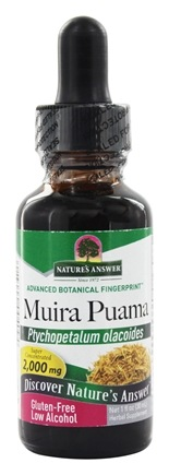 Nature's Answer - Muira Puama Root Organic Alcohol - 1 oz.