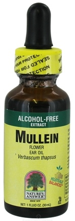 DROPPED: Nature's Answer - Mullein Flower Ear Oil Alcohol Free - 1 oz. CLEARANCE PRICED