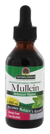 Nature's Answer - Mullein Leaf Organic Alcohol - 2 oz.