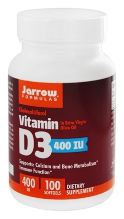 Jarrow Formulas - Vitamin D3 Cholecalciferol 400 IU - 100 Softgels