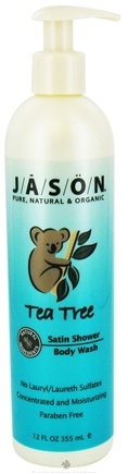 DROPPED: Jason Natural Products - Satin Shower Body Wash Tea Tree - 12 oz. CLEARANCE PRICED