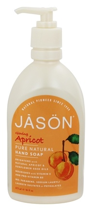 Jason Natural Products - Satin Soap Apricot - 16 oz.