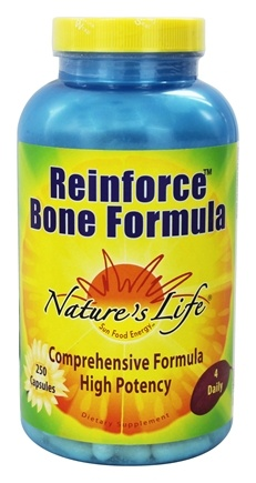 DROPPED: Nature's Life - Reinforce Bone Formula - 250 Capsules