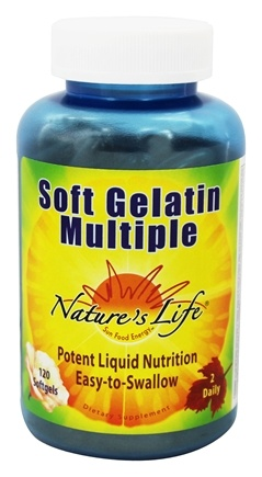 DROPPED: Nature's Life - Soft Gelatin Multiple - 120 Softgels