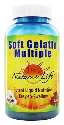 Nature's Life - Soft Gelatin Multiple - 180 Softgels