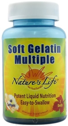 DROPPED: Nature's Life - Soft Gelatin Multiple - 60 Softgels
