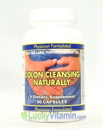 DROPPED: Nature's Benefit - Holt MD Labs Colon Cleansing Naturally - 90 Capsules