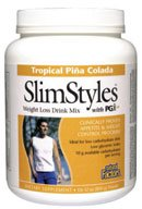 DROPPED: Natural Factors - SlimStyles Weight Loss Drink Mix with PGX Tropical Pina Colada Flavor - 28 oz.