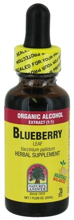 DROPPED: Nature's Answer - Blueberry Leaf Organic Alcohol - 1 oz. CLEARANCE PRICED