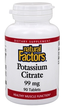 Natural Factors - Potassium Citrate 99 mg. - 90 Tablets