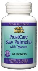 DROPPED: Natural Factors - ProstCare Saw Palmetto with Pygeum - 60 Softgels