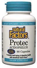 DROPPED: Natural Factors - Protec Acidophilus with FOS 4 Billion Active Cells - 90 Capsules