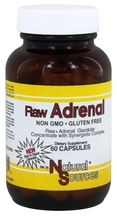 Natural Sources - Raw Adrenal - 60 Capsules