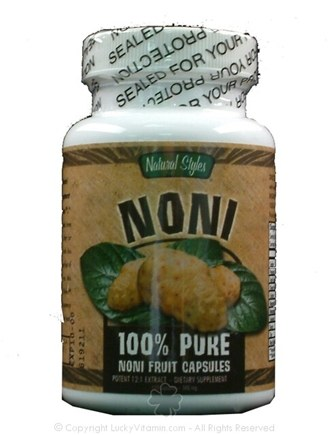 DROPPED: Natural Styles - Noni Fruit Capsules - 100 Capsules