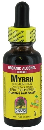DROPPED: Nature's Answer - Myrrh Oleo-Gum-Resin Organic Alcohol - 1 oz. CLEARANCE PRICED