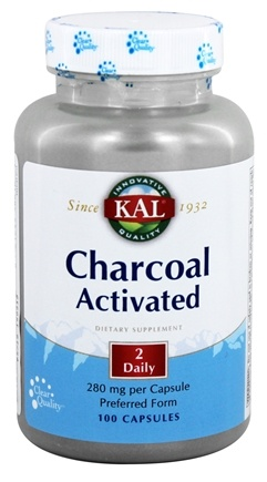 Kal - Charcoal Activated 560 mg. - 100 Capsules