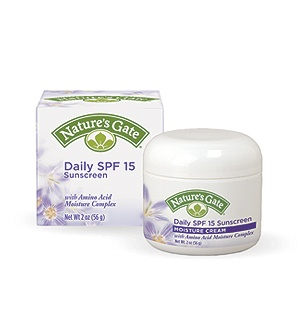 DROPPED: Nature's Gate - Daily Sunscreen Moisture Cream with Amino Acid Moisture Complex 15 SPF - 2 oz.